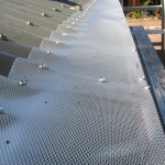 gutter guard corrugated iron