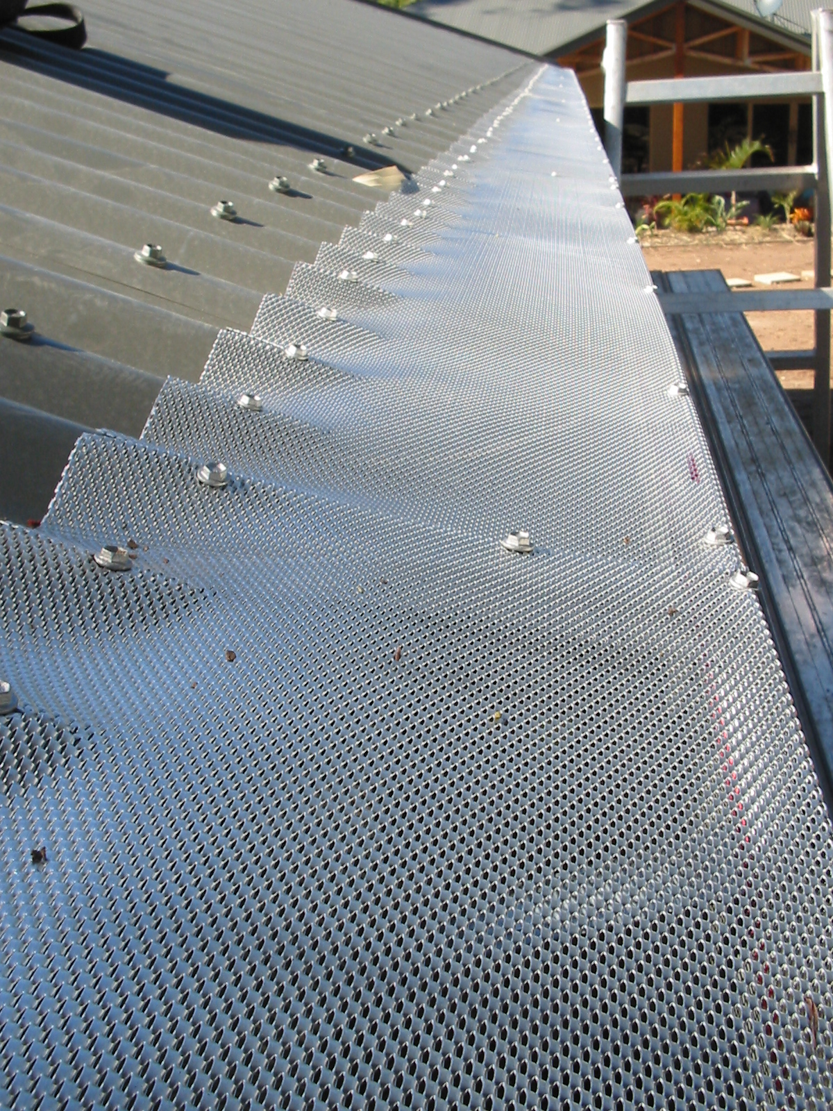 gutter guard corrugated iron